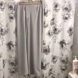 Lavender high waisted flare pant w/ elastic waist